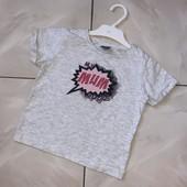Стоп! ❤Фирменная коттоновая футболочка ,2 года❤море лотов!