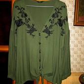 Качество! Натуральная блуза/вышивка от Papaya в новом состоянии