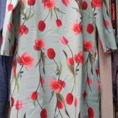 Нарядные платья с цветочным принтом. Рр. 48, 50, 52, 54