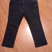 Черные джинсы-тянучки в идеальном состоянии(поб-63-70см)