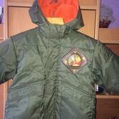 куртка, холодная весна, внутри флис, 1-2 года 92 см, Disney. состояние отличное