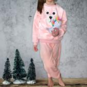 Детский плюшевый домашний костюм-пижама.Качество люкс!цвета фото 3,4,5!