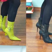 Демисезонные кожаные полусапожки и ботинки в идеальном состоянии, р.37, одни на выбор