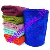 Банное пушистое полотенце Лилия 140*70см, (микрофибра). Турция. Отличного качества!