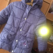 Куртка, холодная весна, внутри флис, р. 4 года 104 см. Cadet Rousselle. состояние хорошее