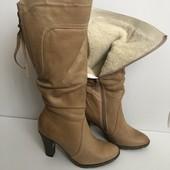 Шкіряні зимові чоботи 36р.