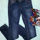 Красивые,стильные фирменные джинсы-скинни на девочку 10-12 лет