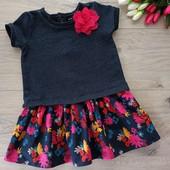 Чудесное платье для девочки 1,5-2года . Nutmeg. Очень хорошее состояние.