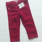 Красивые вельветовые штанишки для девочки 9-18 мес, см замеры