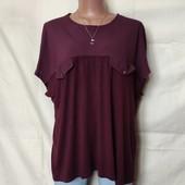 Комбинированная футболка,низ из тонкого трикотажа, вискоза, Турция, грудь-120