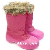 Новые!!Непромокаемые р.38 - 24,5 см утепленные розовые женские сапожки