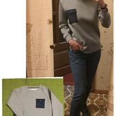 #144 Zara Стильный свитер для вашего модника. Можно на подростка!! С неопрена!