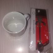 Доброе утро)!Набор:чашечка и ложечка для кофе.