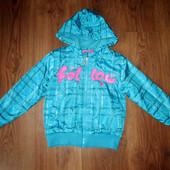 Деми куртка, утепленная ветровка на девочку, 110-125 см
