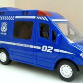 """Машинка """"Полиция"""" свет, звук, инерция, в коробке"""
