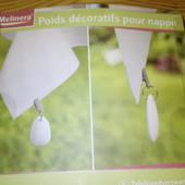 Декоративный набор 4 шт грузиков утяжелителей для скатерти Melinera Германия