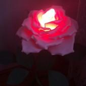 Троянда з підсвіткою ручної роботи