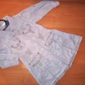 Next. Платье с длинным рукавом.Цвет-серый На рост 92