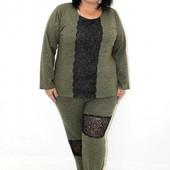 Теплый ангоровый женский костюм 52 размер