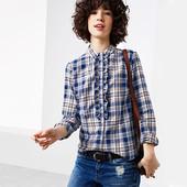 Тепленькая блузка-рубашка фланель из био- хлопка от Tchibo(германия) размер 38 евро