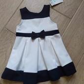 Новое нарядное платье Primark  р.74