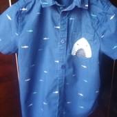 рубашка на мальчика 7-9лет