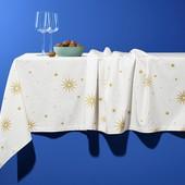 ❖Большая праздничная скатерть из чистого хлопка, от тсм Tchibo (чибо), Германия, 275х150 см