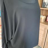Шикарная шифоновая блуза туника на подкладке, летучая мышь