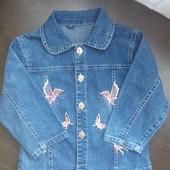 Джинсовая рубашка для девочки.Замеры!