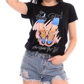 Жіноча футболка з принтом 42-44 (в кольорах)