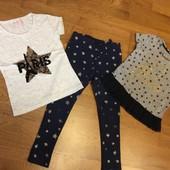 Лосины и две футболки на 4—5 лет