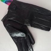 Кожаные мужские перчатки. Р. 13