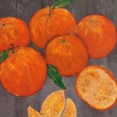 """Авторская картина, """" Апельсины"""",30на30см"""