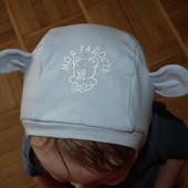 Весенный шлем,шапка на от 6 мес до 2 год