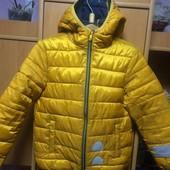 Куртка. холодная весна, внутри флис, размер 8 лет 128 см, HGAkba. состояние хорошее