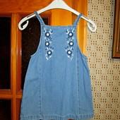 Качество! Стильное платье/сарафан от бренда George, 2-3+- года, в новом состоянии
