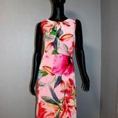 Качество! Шикарное платье/шифон на подкладке с ассиметричным низом, в новом состоянии