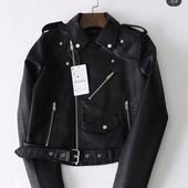Новая куртка косуха из искусственной кожи
