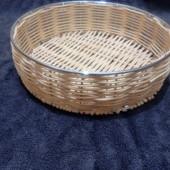 Корзинка круглая d-20см плетеная на металлическом каркасе Lidl