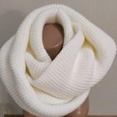 новый шарф-снуд шириной 34 см, 1\2 длины – 67 см.