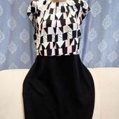 Платье с комбинированных тканей от Papaya, p. XL