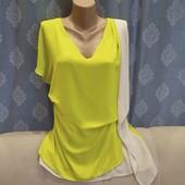 Шикарная блузка цвета лайма, р. М