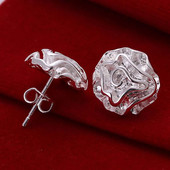 Удивительный серебряный комплект Кулон серьги +цепочка в подарок! 925 проба