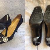 Туфли одним лотом три пары, р.36-37, кожаные