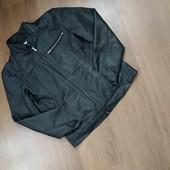 Черная кожаная куртка от Kit. Унисекс.