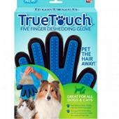 Перчатка для вычесывания шерсти у котов и собак