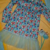 Ваша дівчинка буде в захваті!Супер оригінальне платтячко.Якість,колір,фасон неймовірні