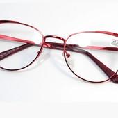 """Новая коллекция!!Стильные металлические очки """"Кошечки"""" с диоптр. плюс !"""
