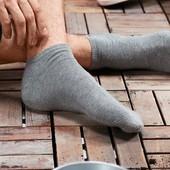 лот 2 пары Короткие носки - сникерсы из био-хлопка Tchibo (германия) размер 41-43