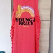 Блиц-цена! модный сарафан на девушку от Рерсо! На рост 170 см! наш S-M! 100% хлопок Замеры